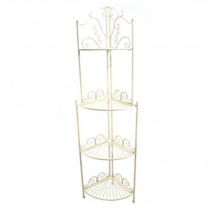 Blais. 4 Tier Antique French Style Outdoor Corner Shelf
