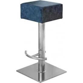 Blue Block Bar Stool