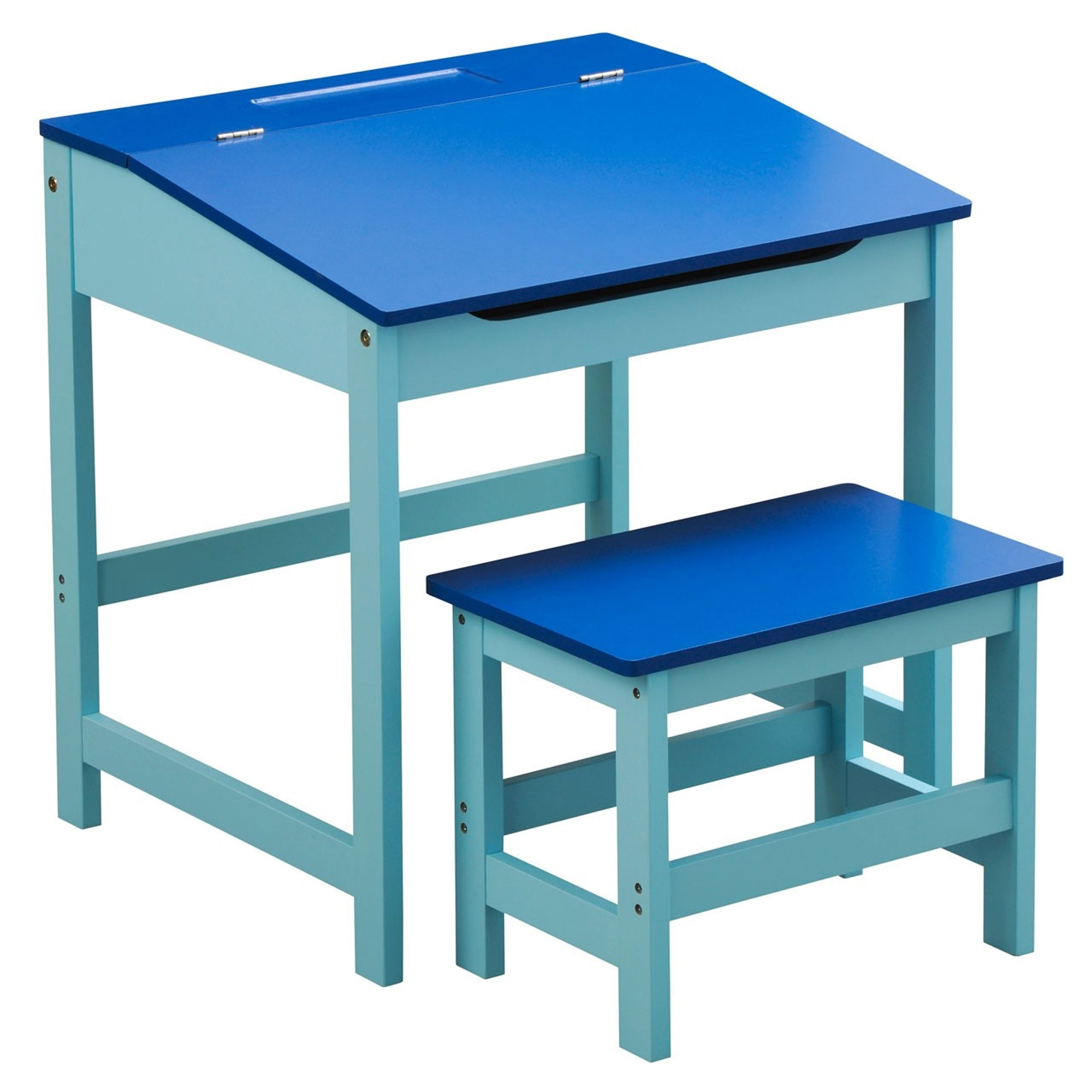 Blue Kids Desk And Stool Modern Amp Contemporary Kids