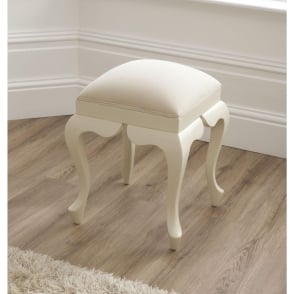 Bordeaux Ivory Antique French Style Stool