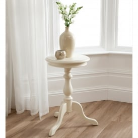 Bordeaux Ivory Antique French Style Wine Table