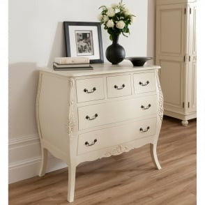 Bordeaux Shabby Chic Style Chest Of Drawers