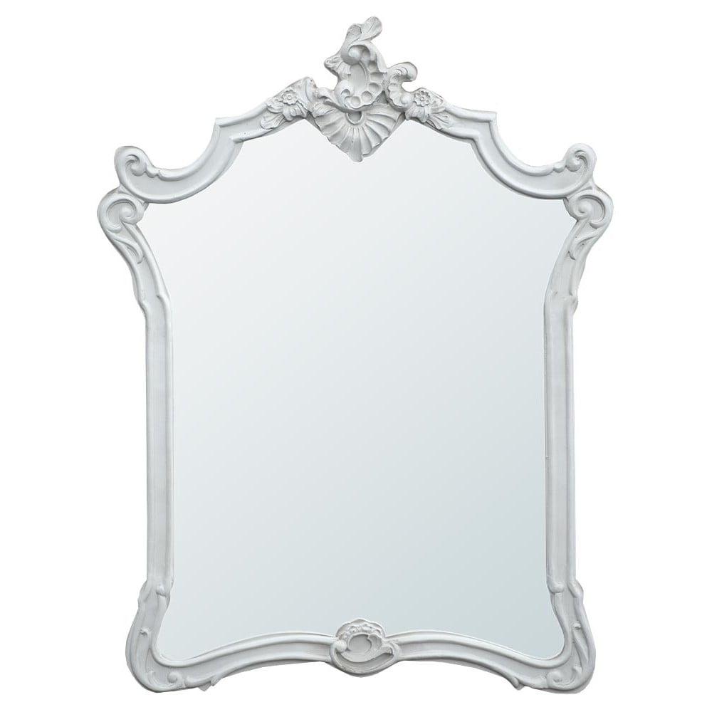 Wilko baroque mirror silver 87x62cm - Boudoir Provence Baroque Antique French Style Mirror French