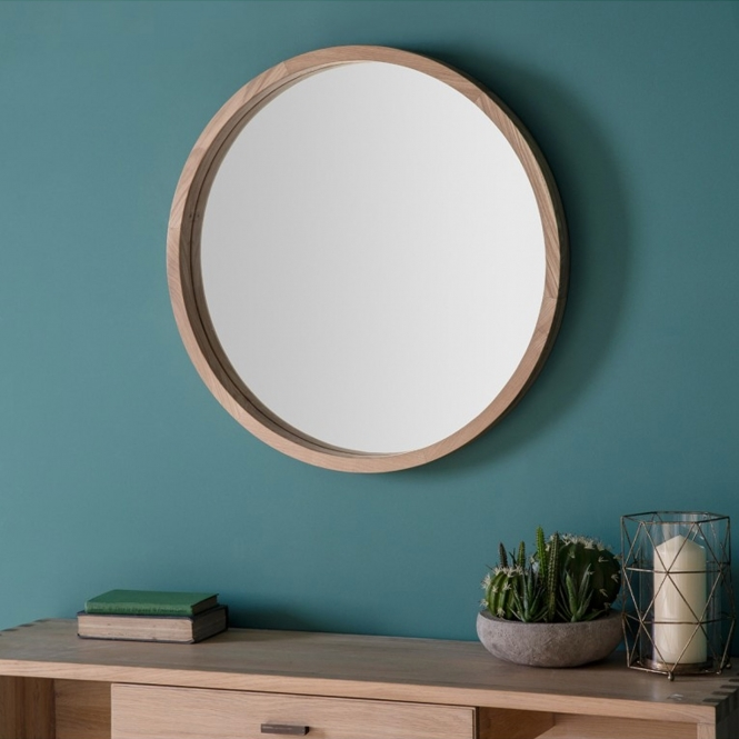Bowman Small Round Wall Mirror