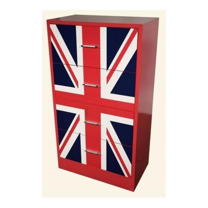British Union Jack 4-Drawer Chest