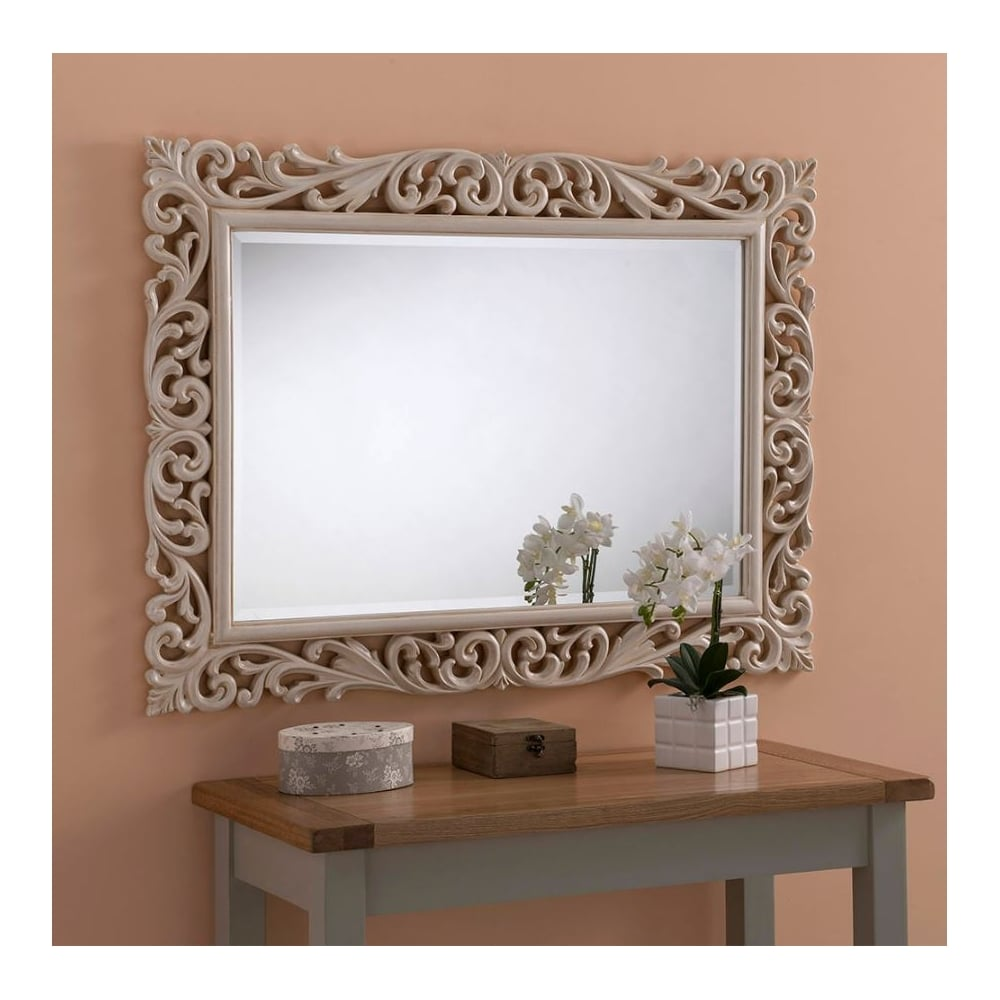 Brittania Antique French Style Ivory Mirror | French ...