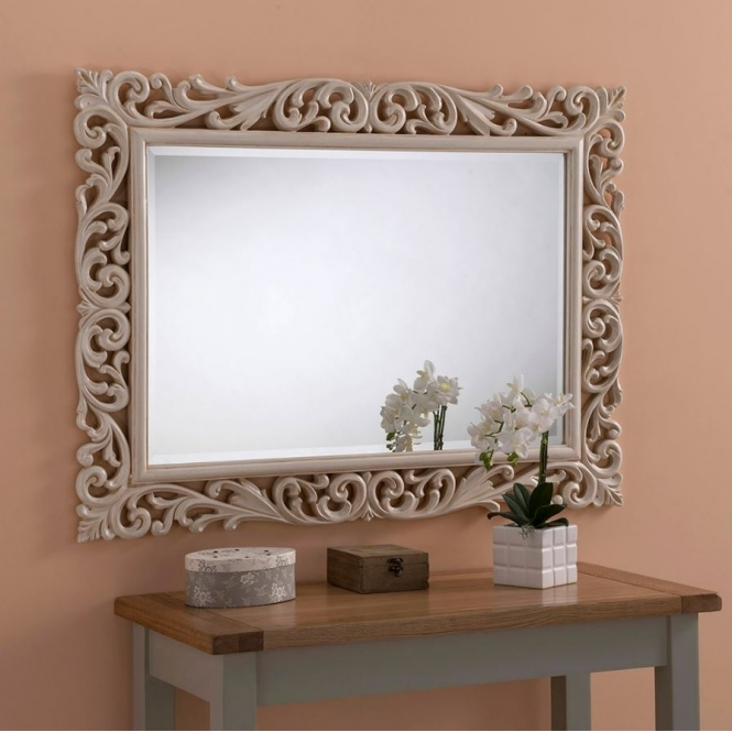 Brittania Antique French Style Ivory Mirror