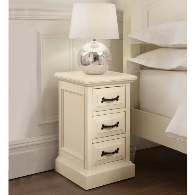 Brittany 3 Drawer Narrow Shabby Chic Bedside