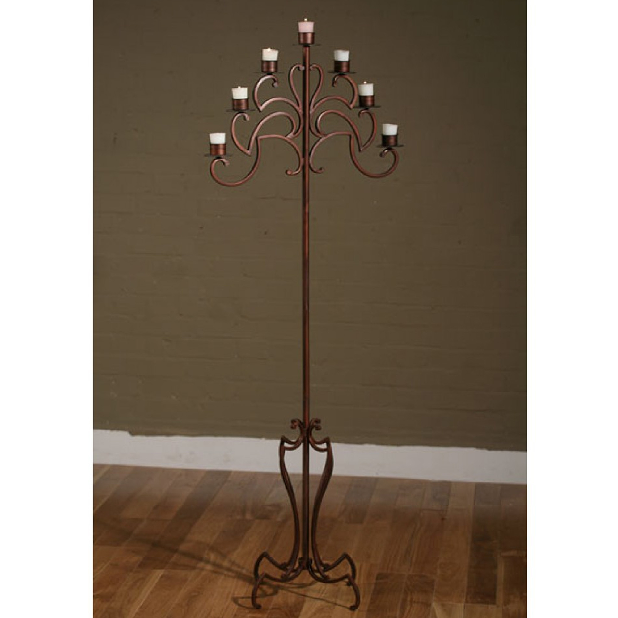 Bronze 7 Arm Floor Standing Candle Holder Candle Stand