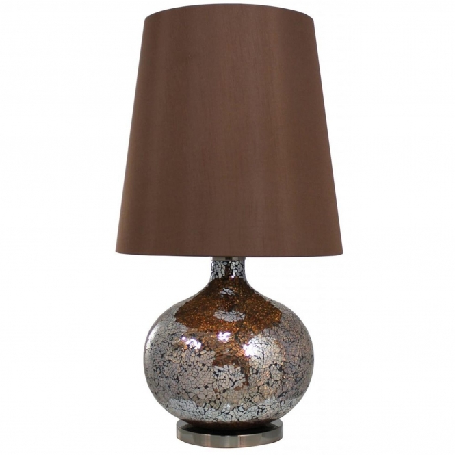 Bronze and Gold Sparkle Mosaic Table Lamp