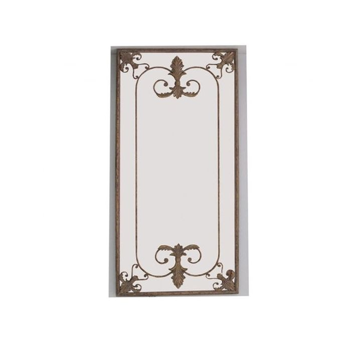 Bronze Antique French Metal Wall Mirror