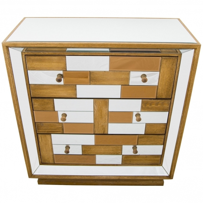 Bronze Mirrored Chest Of Drawers