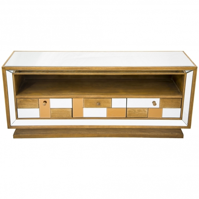 Bronze Mirrored TV Cabinet