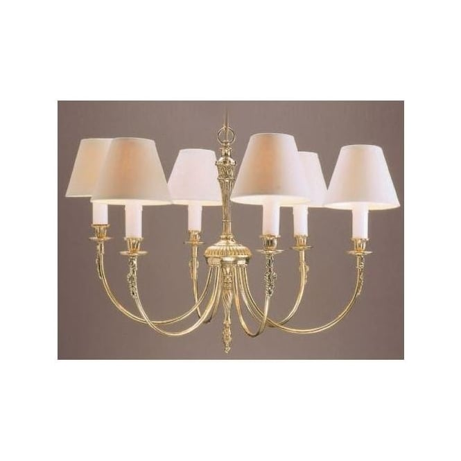 Brooklands Brass Antique French Style Pendant Light