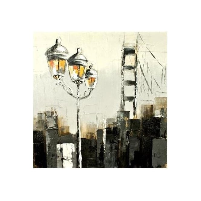 Brooklyn Gaslight Painted Canvas