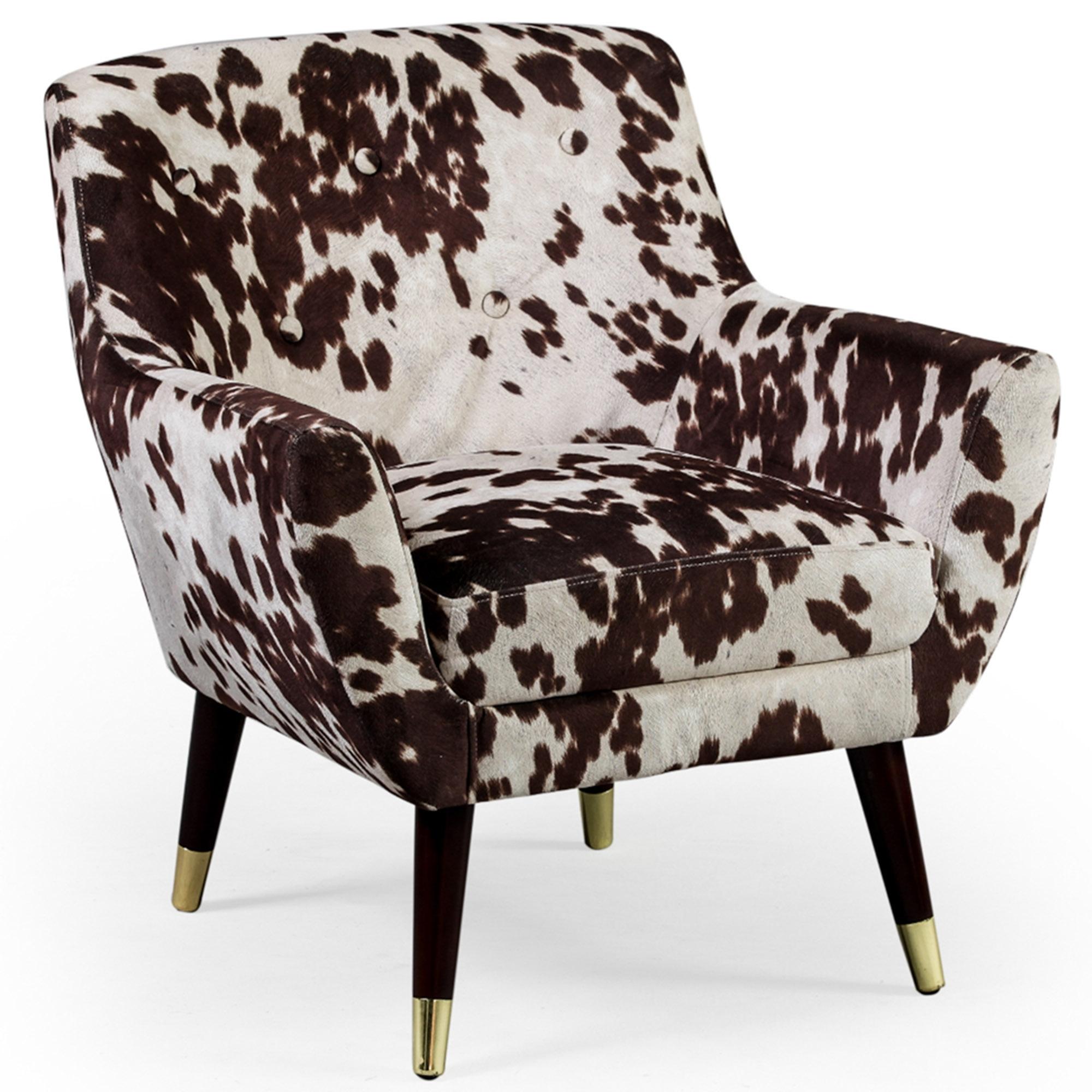 Brown Cowhide Retro Armchair Armchair Homesdirect365