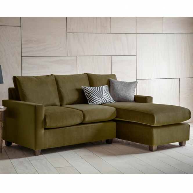 Brussels Olive Stratford LH Chaise Sofa