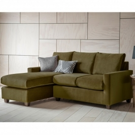 Brussels Olive Stratford RH Chaise Sofa