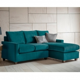 Brussels Petrol Stratford LH Chaise Sofa