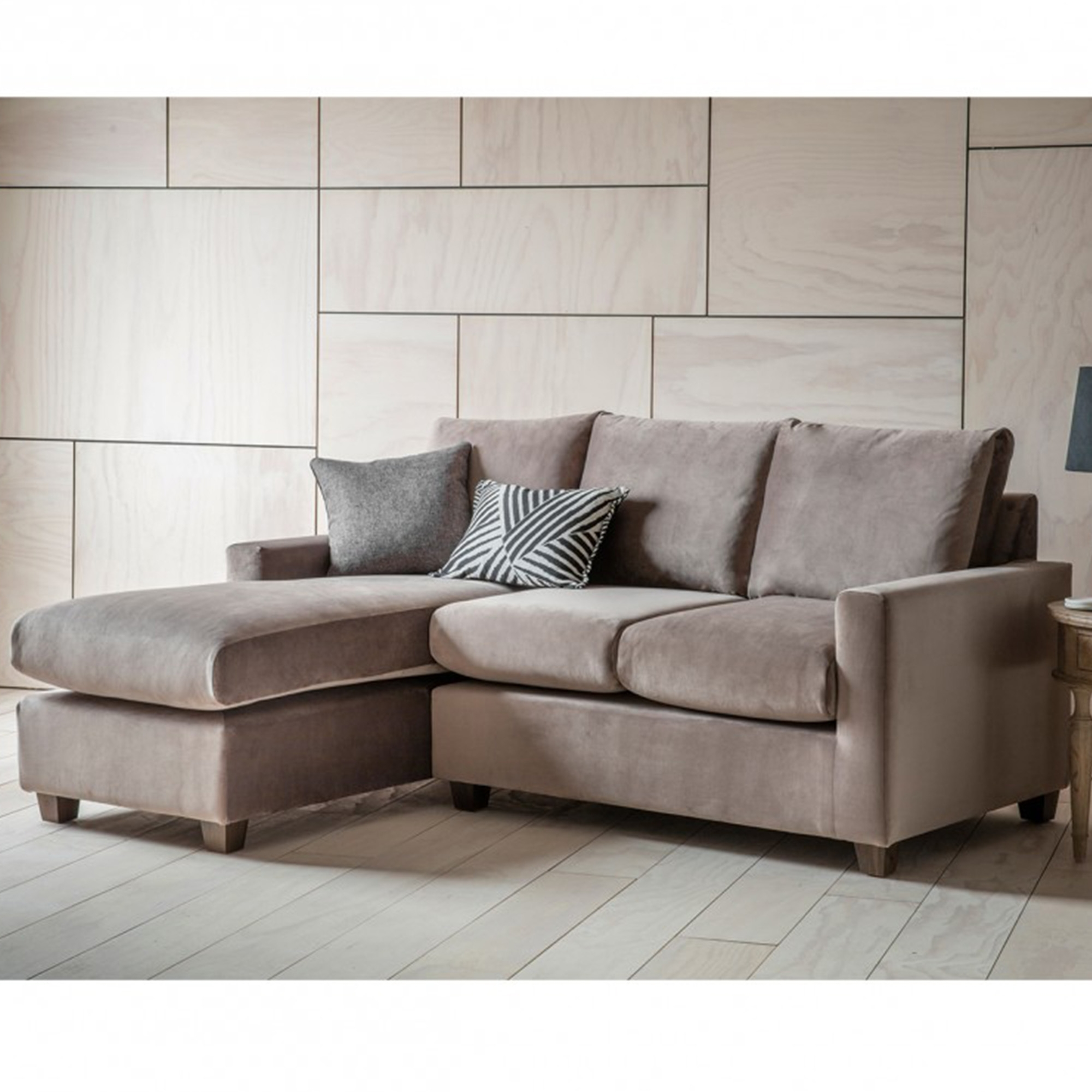 Brussels Taupe Stratford RH Chaise Sofa