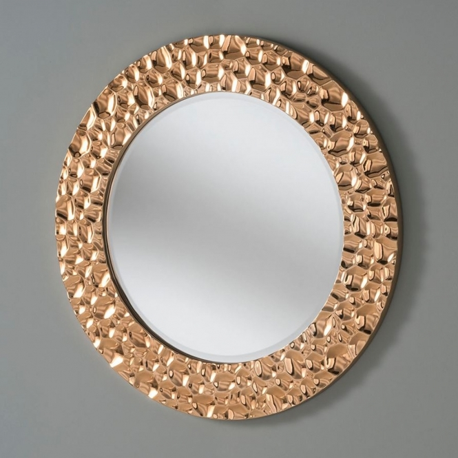 Bubble Effect Chrome Copper Circle Wall Mirror