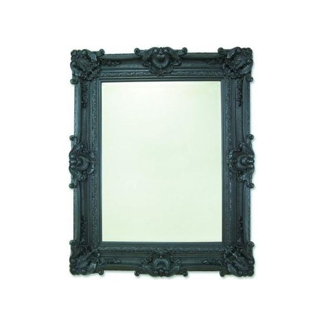 Buckingham Antique French Style Black Mirror