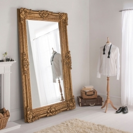 Buckingham Gold Antique French Style Floorstanding Mirror