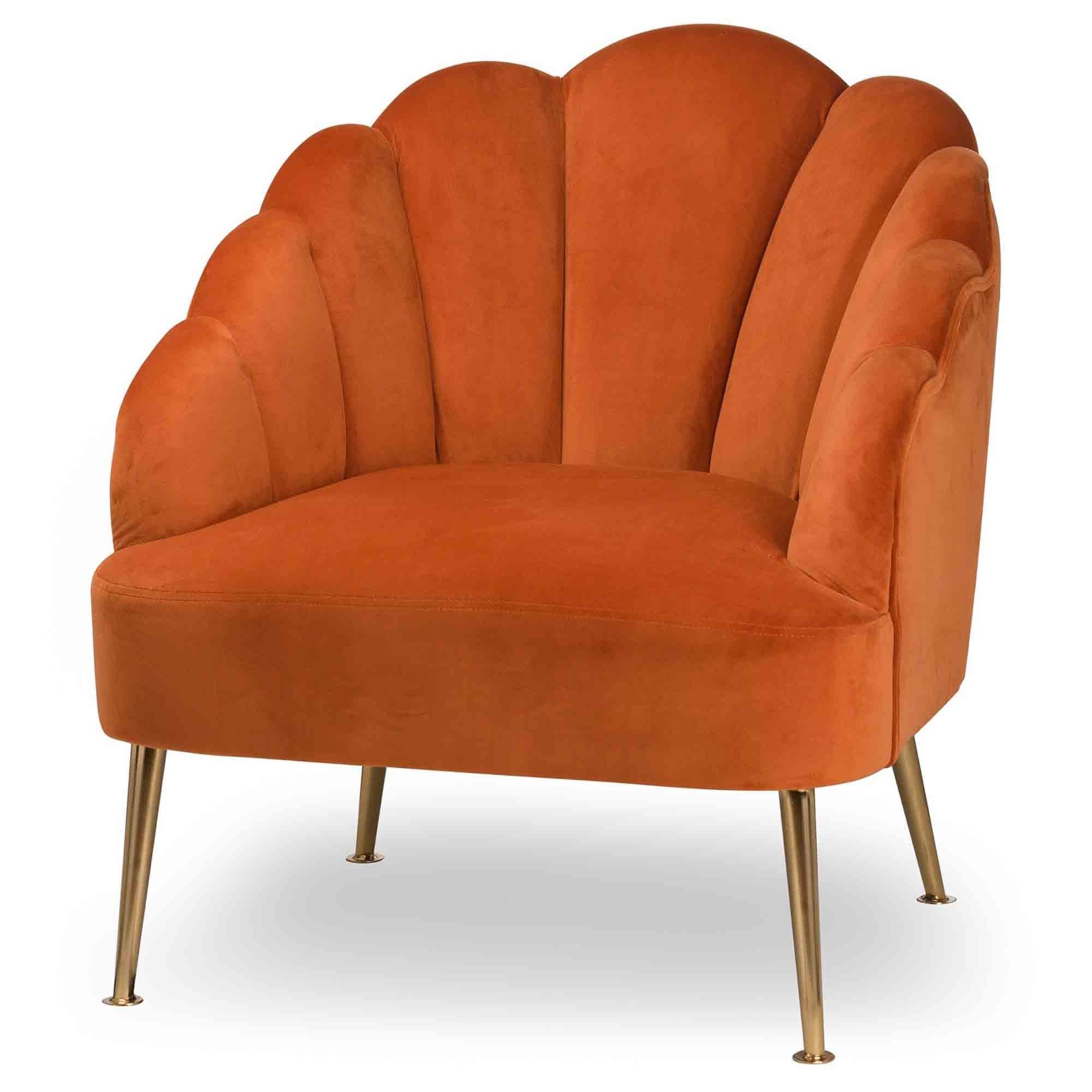 Picture of: Burnt Orange Velvet Teacup Chair Velvet Chairs Chairs