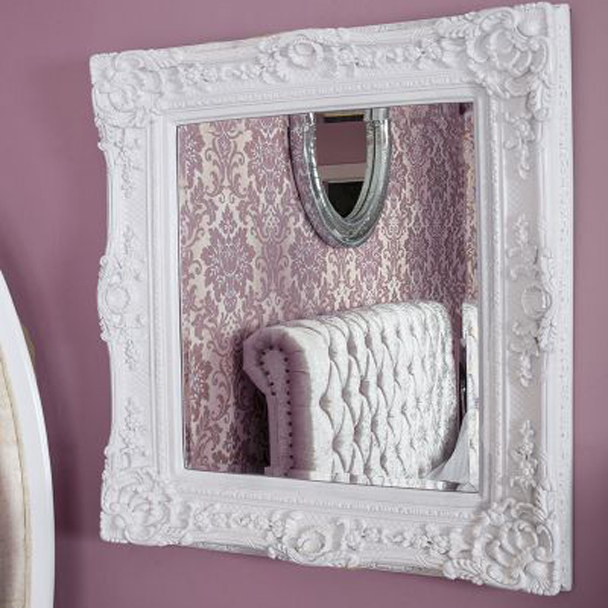 Caens White Decorative Mirror White Mirrors Wall Mirrors