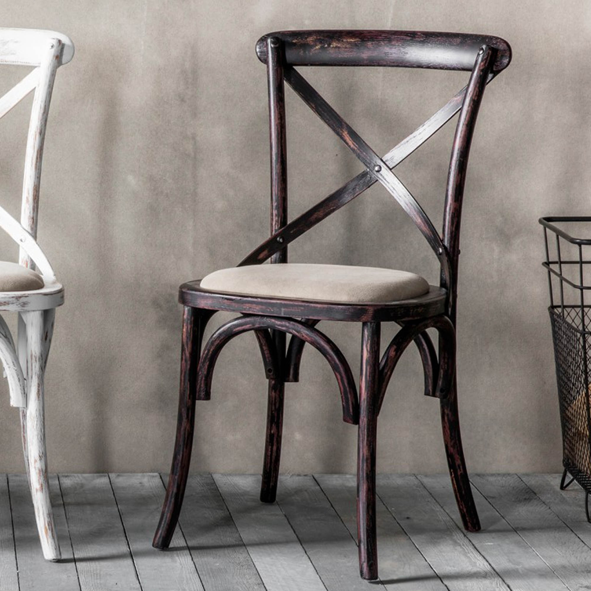 caf 2 black shabby chic chairs chairs homesdirect365 rh homesdirect365 co uk