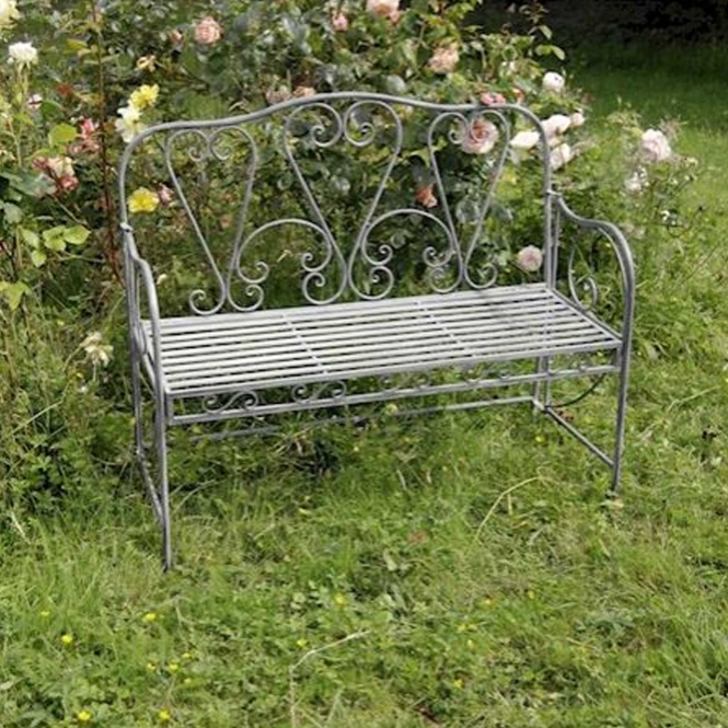Cafe Antique French Style Outdoor Bench
