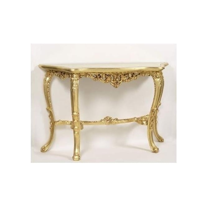 Cagliari Gold Antique French Style Console Table