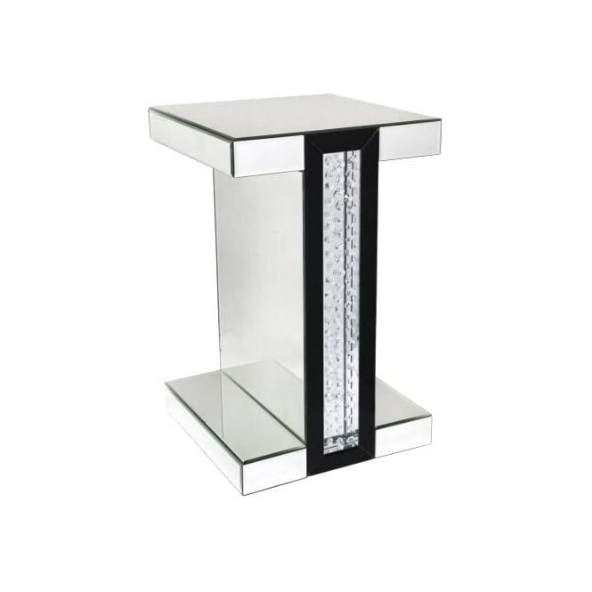 Calabria Mirrored End Table