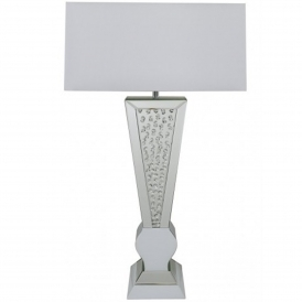 Calabria White Diamond Table Lamp