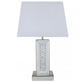 Calabria White Rectangular Table Lamp