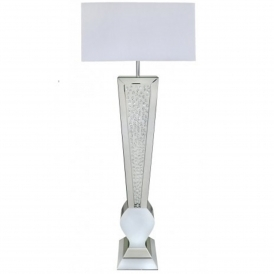 Calabria White V Shape Table Lamp