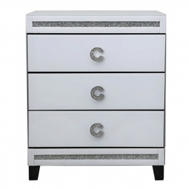 Calco Mirrored Bedside Cabinet