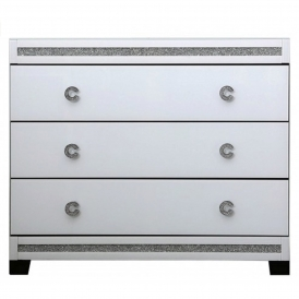 Calco Mirrored Chest Of Drawers