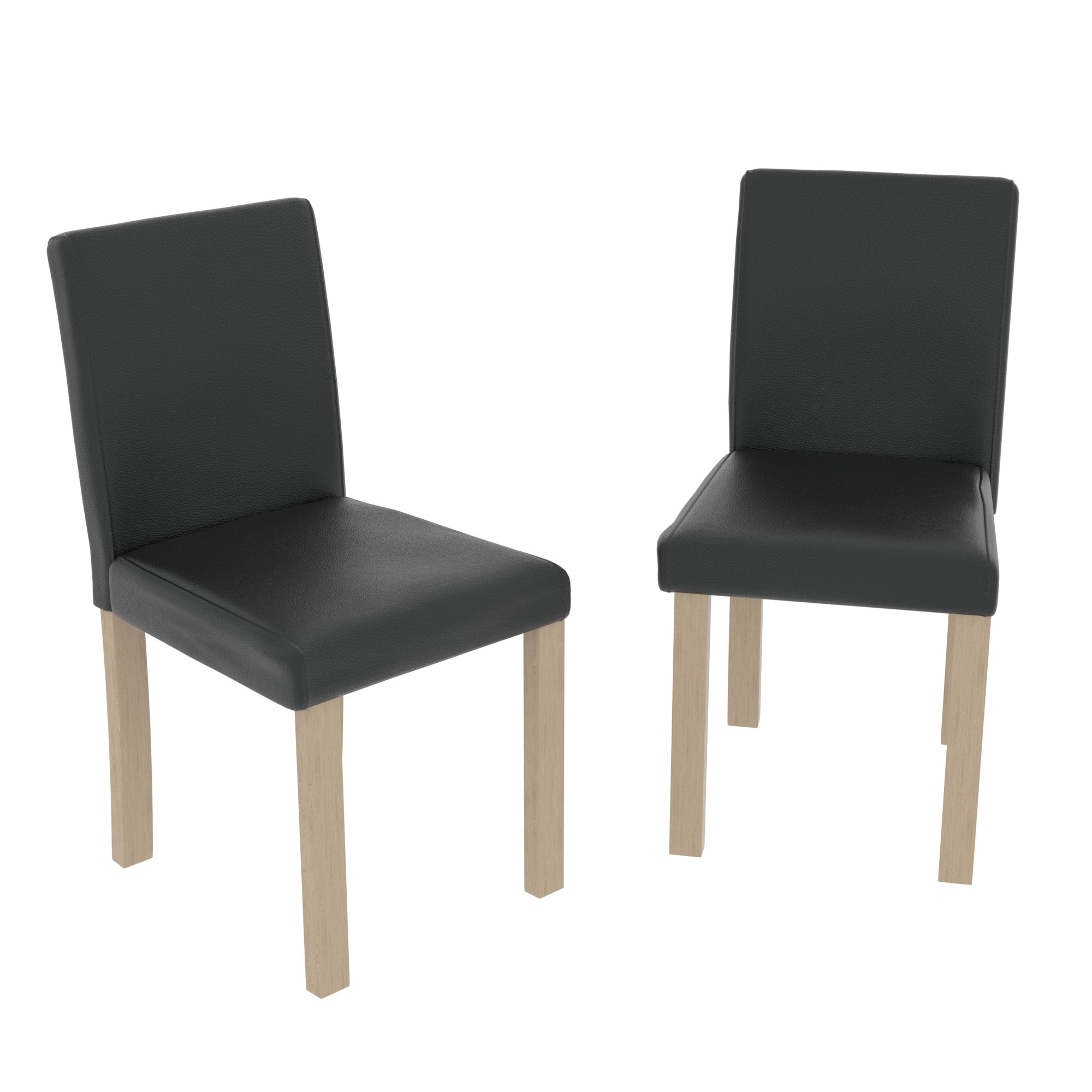 Excellent Canterbury Set Of 2 Dining Chairs Black Oak Andrewgaddart Wooden Chair Designs For Living Room Andrewgaddartcom