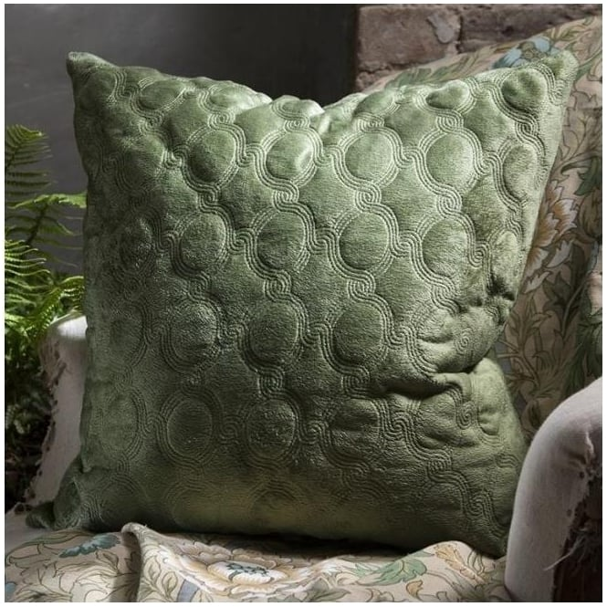 Cappucine Quilted Green Cushion