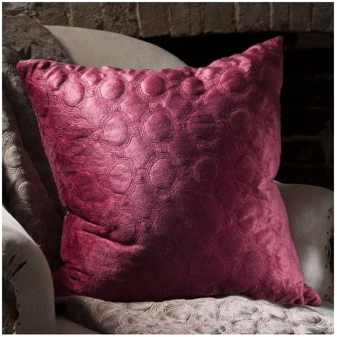 Cappucine Quilted Red Cushion