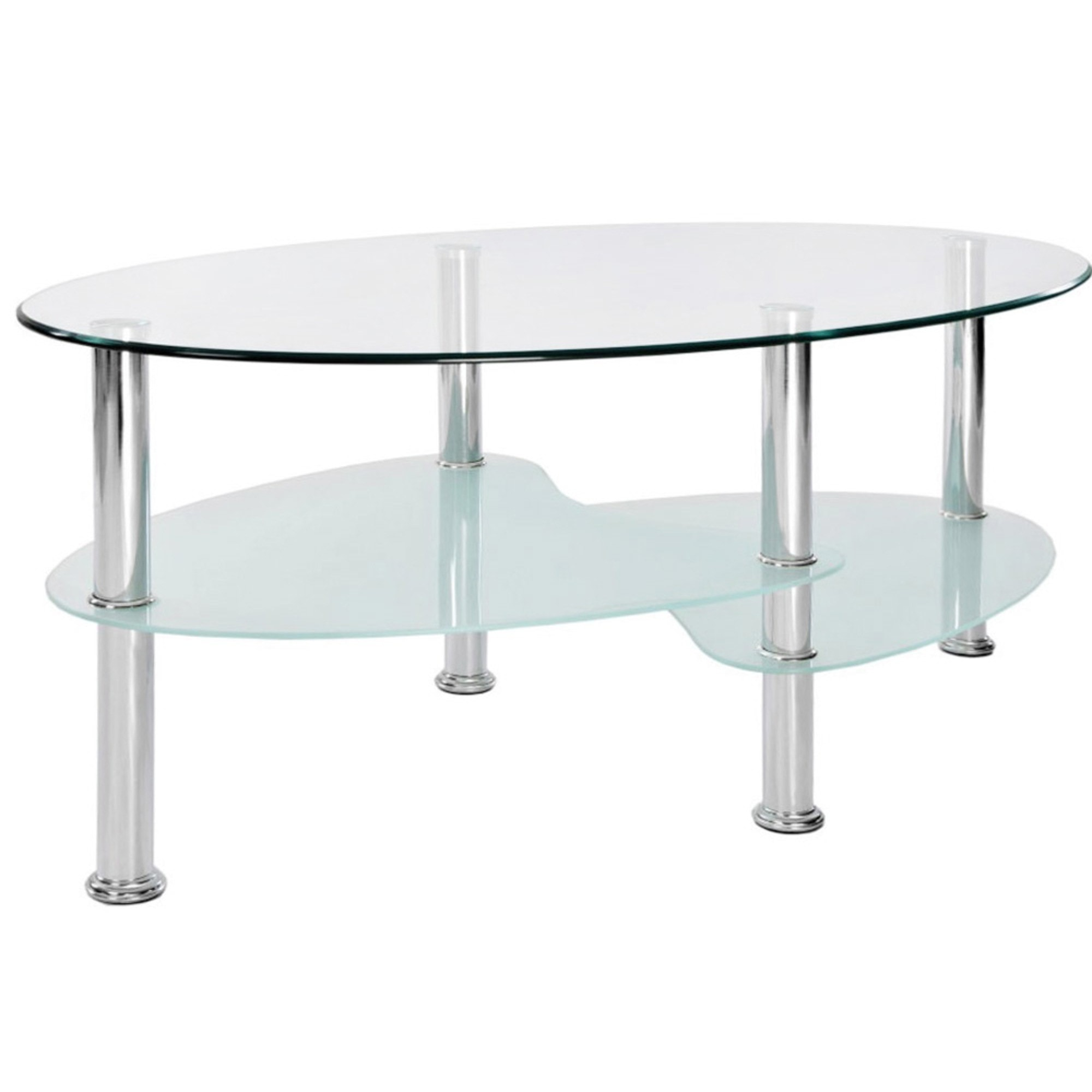 Cara Oval Frosted Glass Coffee Table