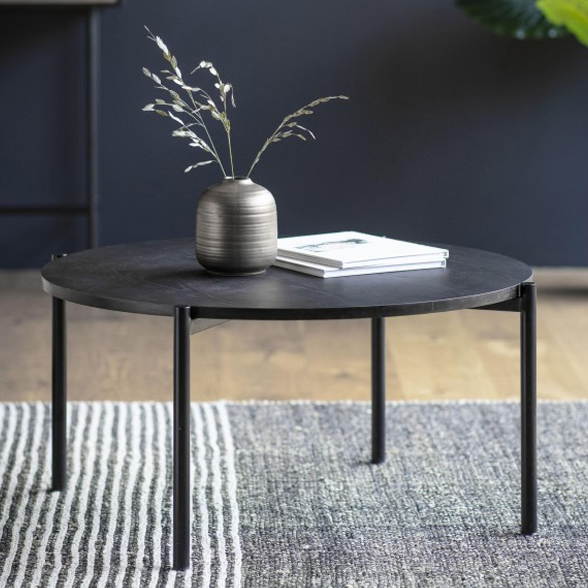 Carbury Coffee Table Black Modern Coffee Table Industrial Coffee Table