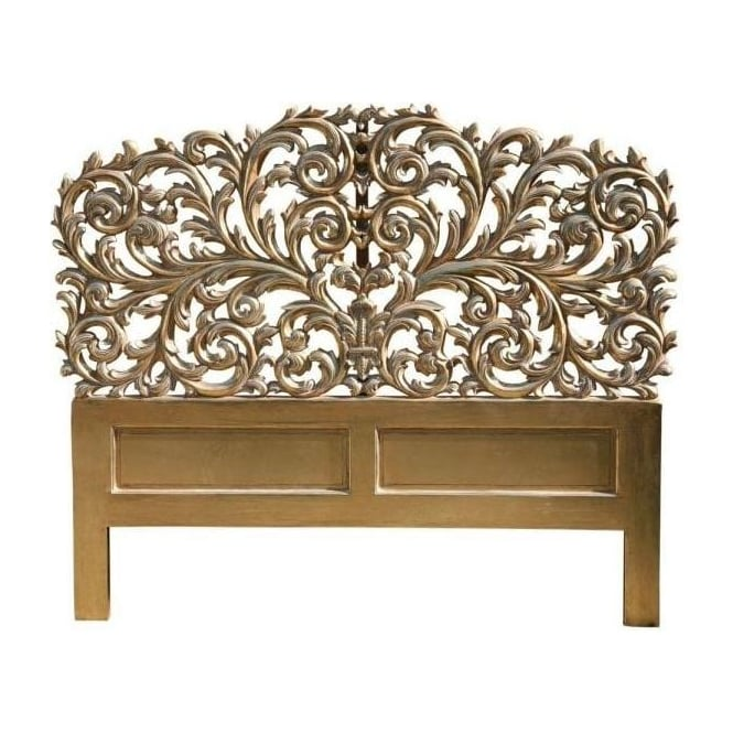 Carved Antique French Style Headboard