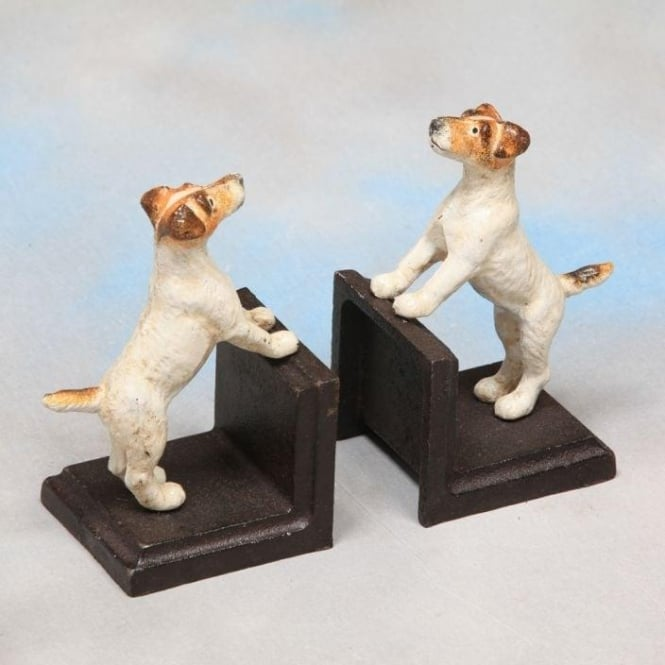 Cast Iron Pair Of Terrier Bookends