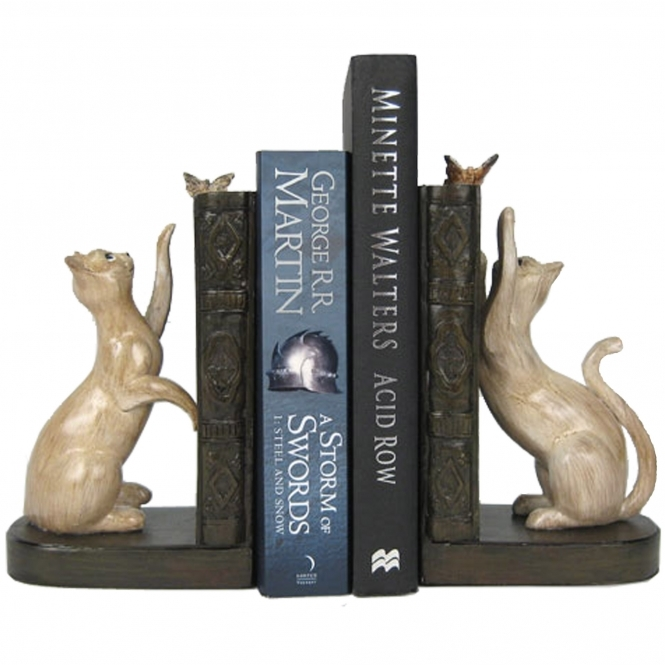 Cat Bookends Home Decor Homesdirect365