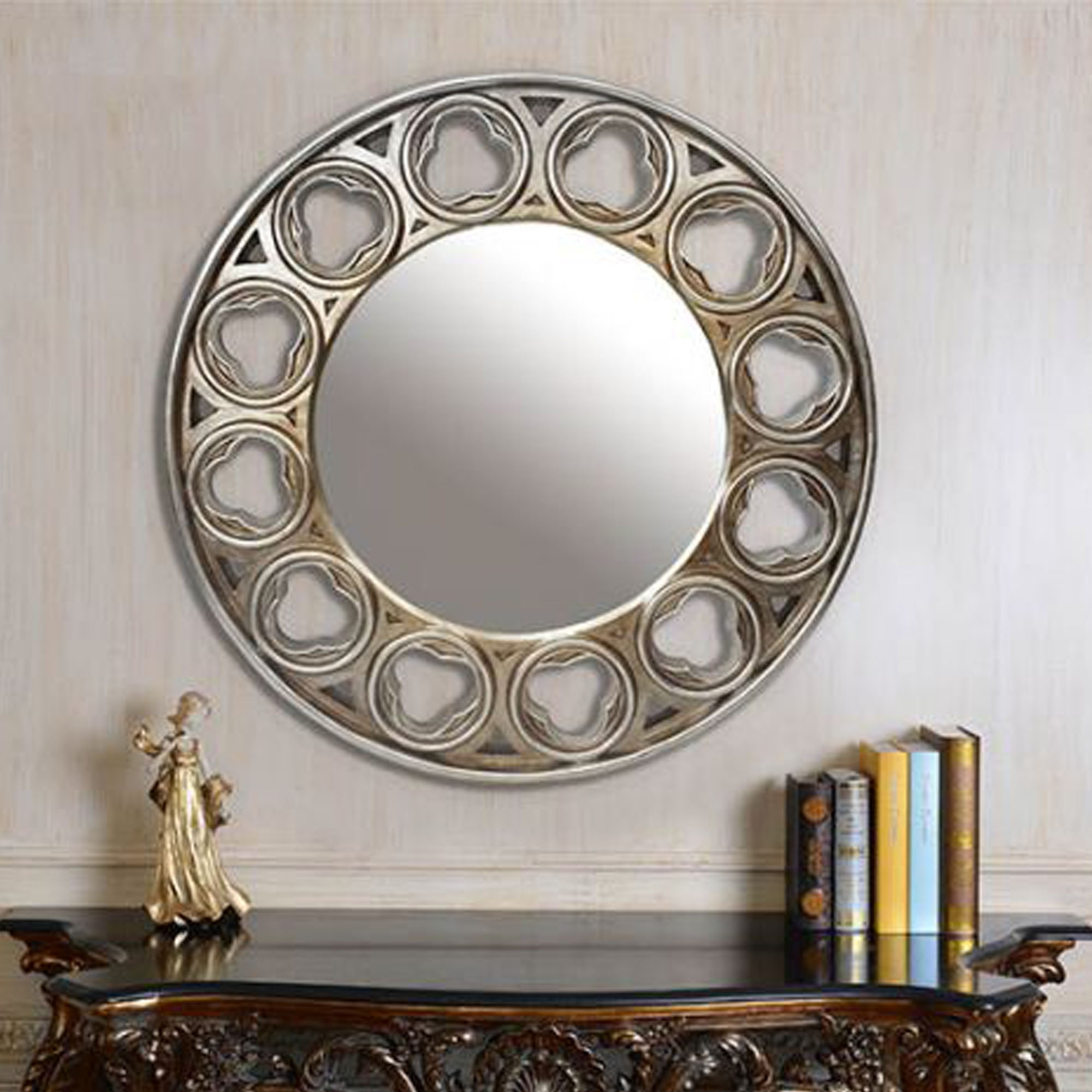 Celtic Round Mirror Silver Wall Mirrors Contemporary Mirrors