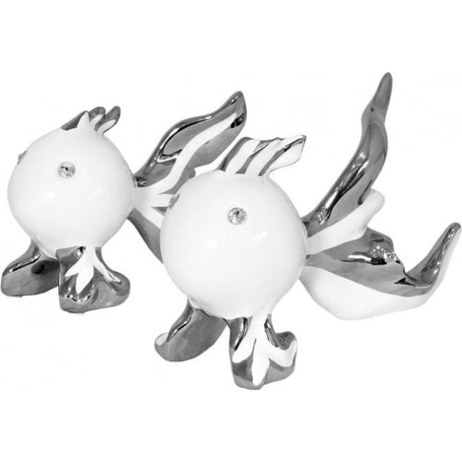 Ceramic - Platinum White Puffa Fish