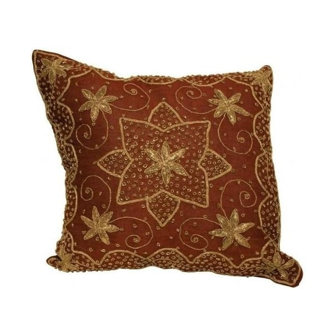 Cerise Zardoji Cushion