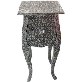 Chaandhi Kar Embossed Antique French Style Bedside Cabinet